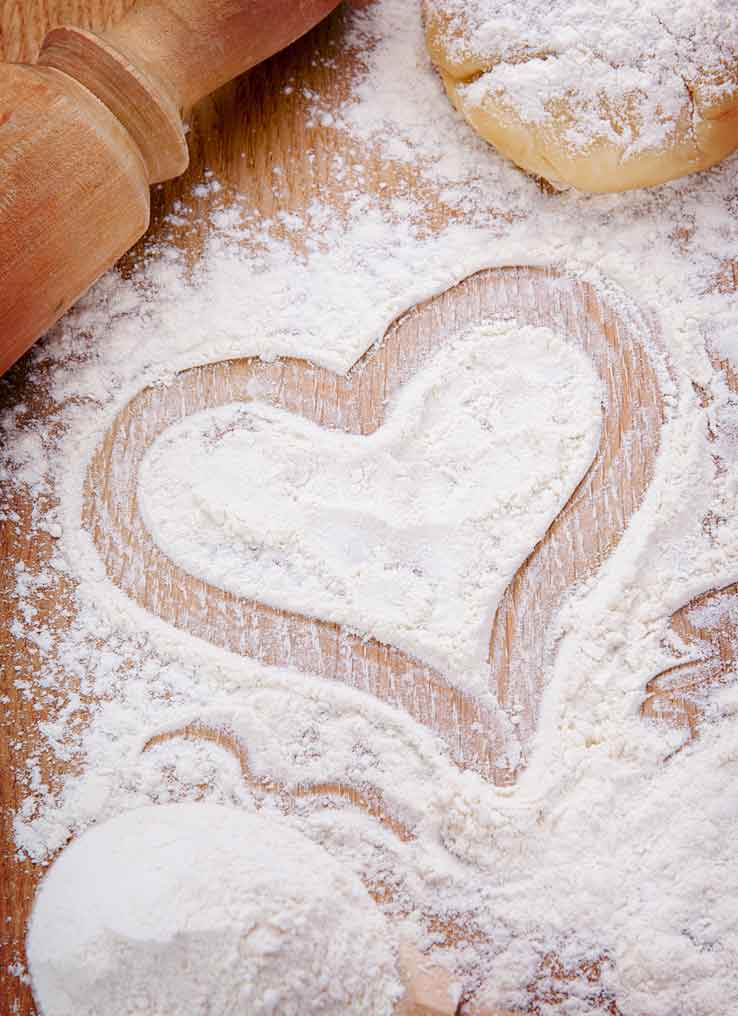 Gluten-Free Flour with Heart